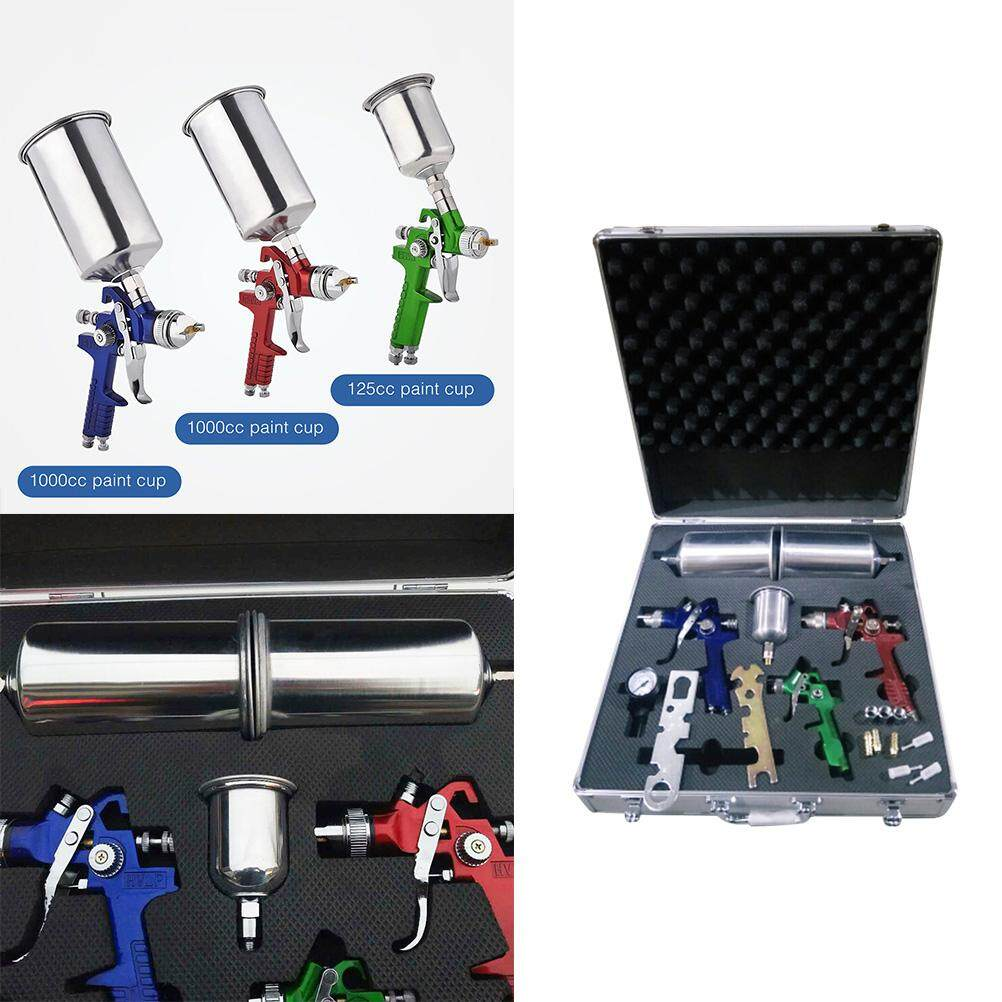3 Environmental Air Spray Machine Kit Auto Paint Car Primer Detail Basecoat Clearcoat Airbrush