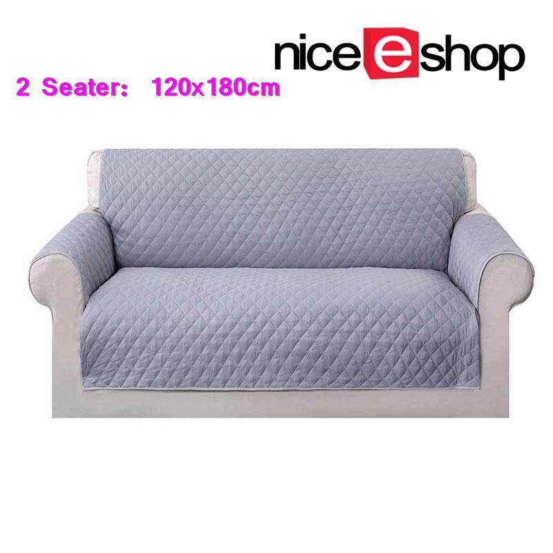 niceEshop Non-Slip Washable Waterproof Chair Covers Sofa Cover Protector Quilted Couch Protector(2 Seater)