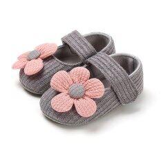 I Love Daddy&Mummy Giày hình hoa dễ thương chất liệu cotton mềm dành cho bé gái sơ sinh – INTL