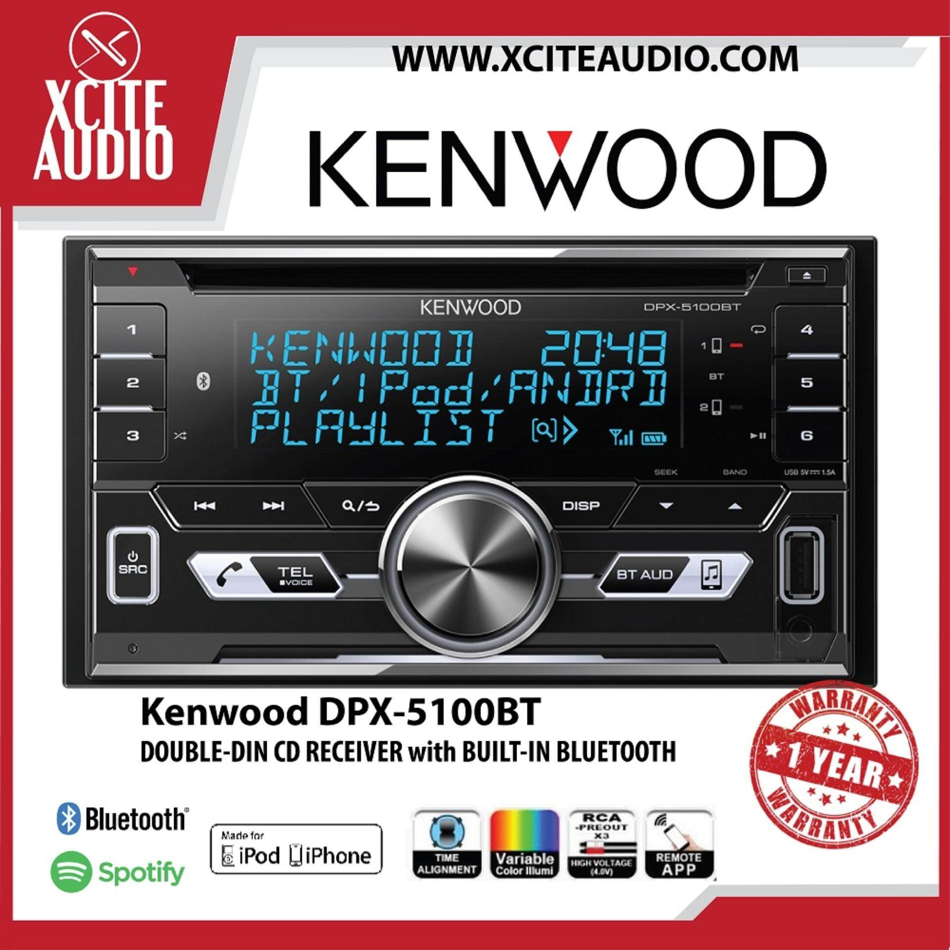 Kenwood DPX-5100BT Double DIN CD Receiver Bluetooth and Front USB/AUX Input  Car Stereo