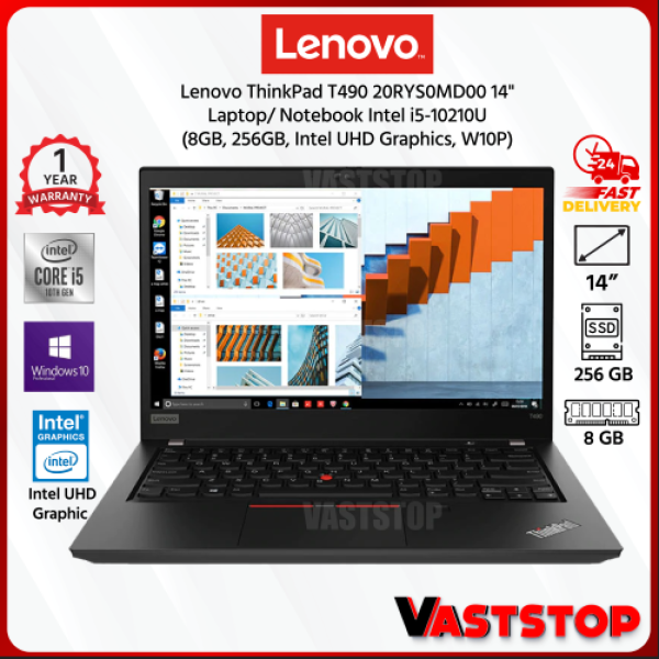 Lenovo ThinkPad T490 20RYS0MC00 | 20RYS0MD00 14 Laptop | Notebook (Intel i5-10210U, 8GB, 512GB/256GB, Intel UHD Graphic, W10P) Malaysia