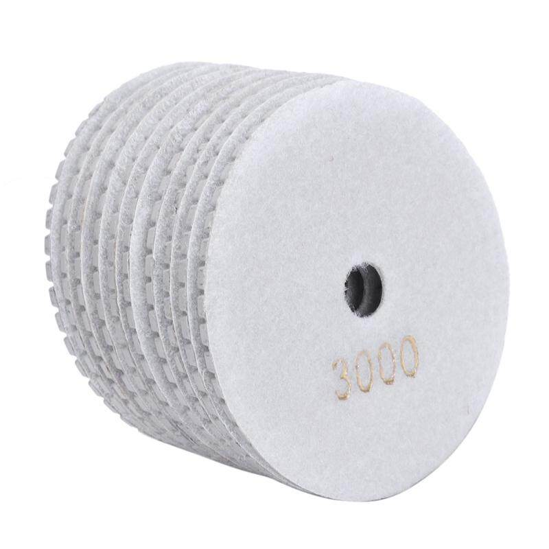 10Pcs Dry Grinding Disc Quick Chnage Polishing Pad For Marble Stone Concrete Floor Grinding Air Sander Tool