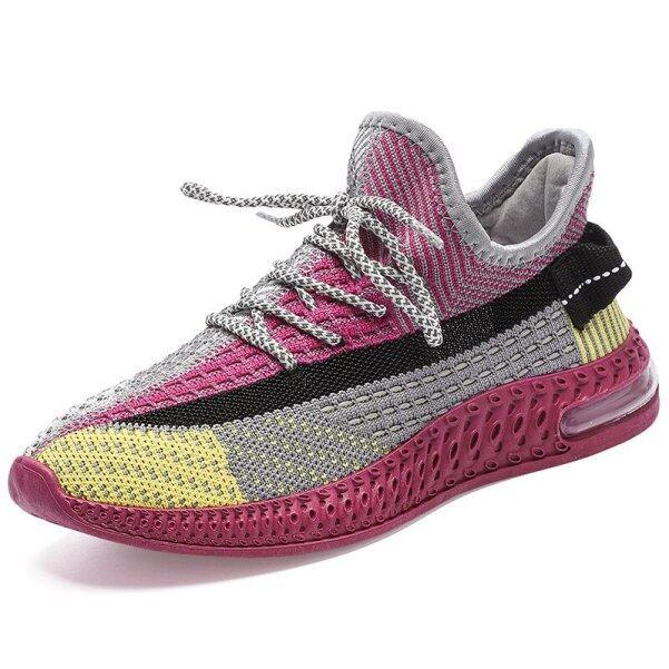 Giày Tennis Thể Thao Nữ 2021, Giày Thể Thao Vớ Lưới Đệm Khí Thoáng Khí Giày Nữ Tập Thể Dục Gym giá rẻ