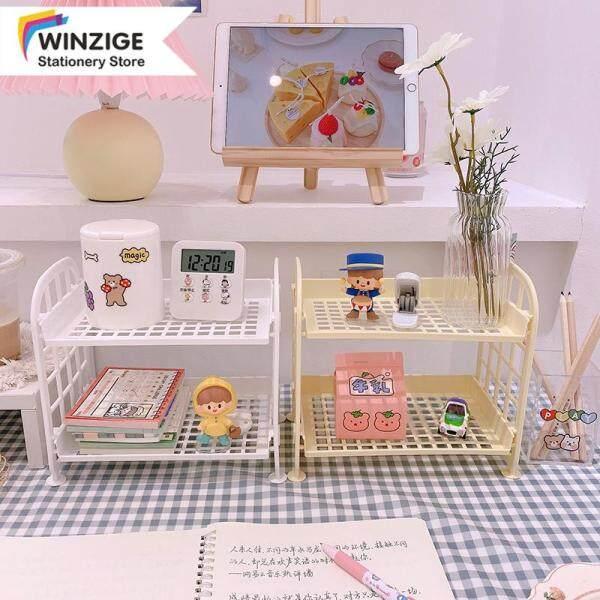 Winzige Giá màu Macaron lưu trữ mỹ phẩm máy tính để bàn văn phòng phẩm trang trí - INTL