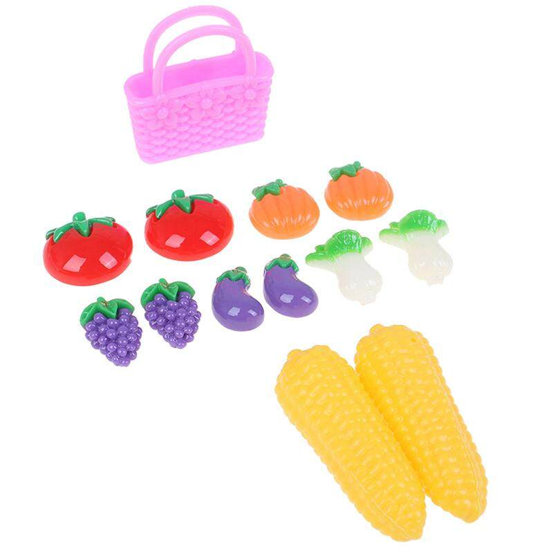 Greenwind 13Pcs Miniature Pretend Food Fruit And Vegetable Bag Toy Doll DIY Accessories
