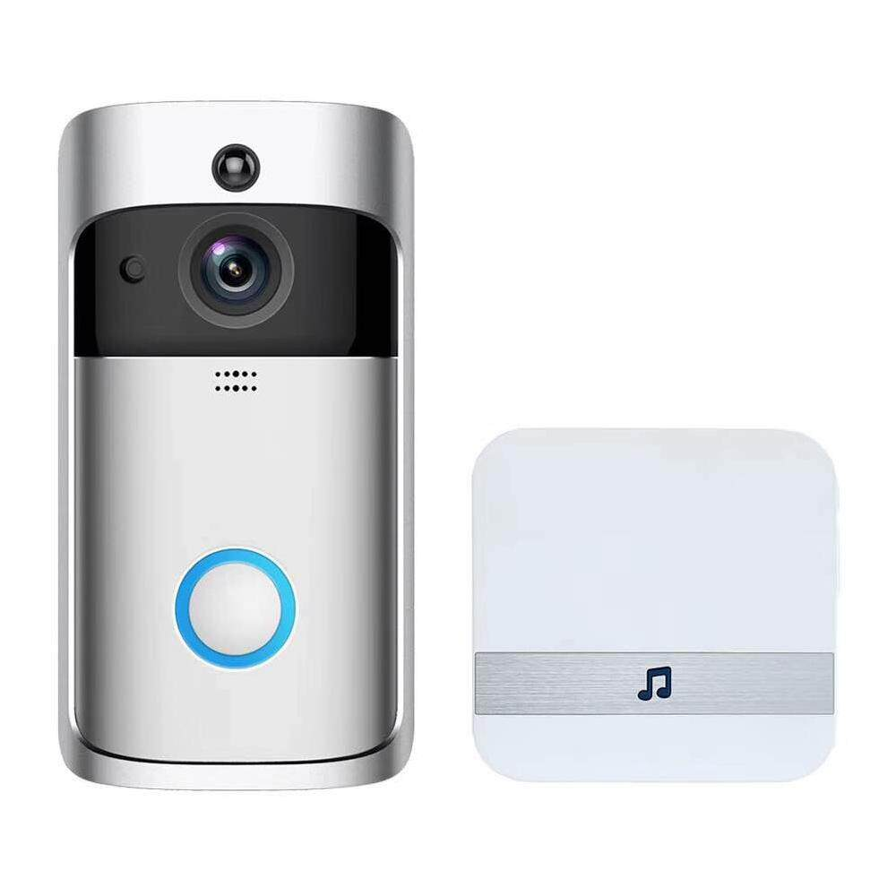 CZS WiFi Smart Video Doorbell Camera, Wireless WiFi Doorbell With Chime,  166° Wide Angle 720P HD Doorbell Camera View, IR Night Vision, Support