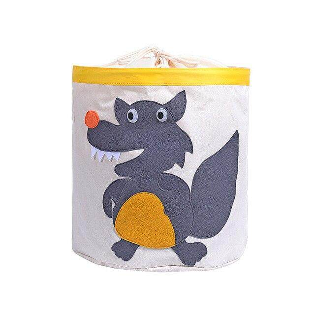 Cute Cartoon Animal Toys Organizer Dinosaur Panda Dog Kids Clothes Laundry Basket Waterproof Folding Toy Storage Box with Cover