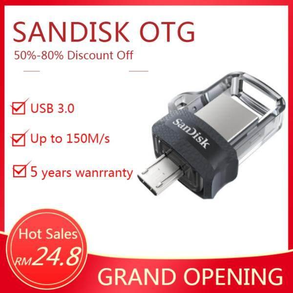 Giá Thẻ Nhớ sandisk Ultra Dual Drive 32 Gb M3.0 Otg Usb 3.0 Cho Máy Tính Và android Otg Thiết Bị Đen (Tốc Độ Lên Tới 150 Mb/Giây)