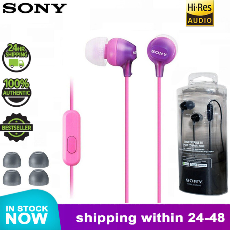 Original Sony MDR-EX15AP 3.5mm Wired Earbud In-ear Subwoofer Stereo Earphones Hands-free With Mic For xiaomi huawei sony phone Singapore