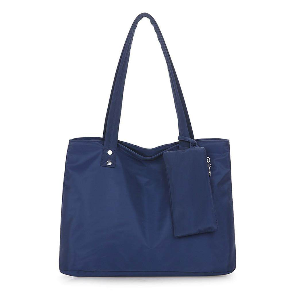 Tailored  2Pcs Men Women Oxford Solid Waterproof Large Capacity Shoulder Bag Casual Totes