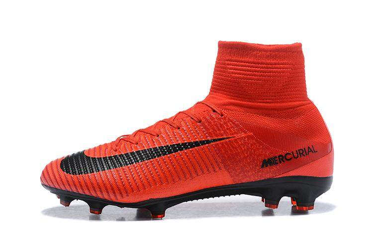 ea72d8f2a8cca Original High Ankle Football Boots Superfly FG Men's Soccer Shoes XI 11 CR7  Profissional Adulto Football