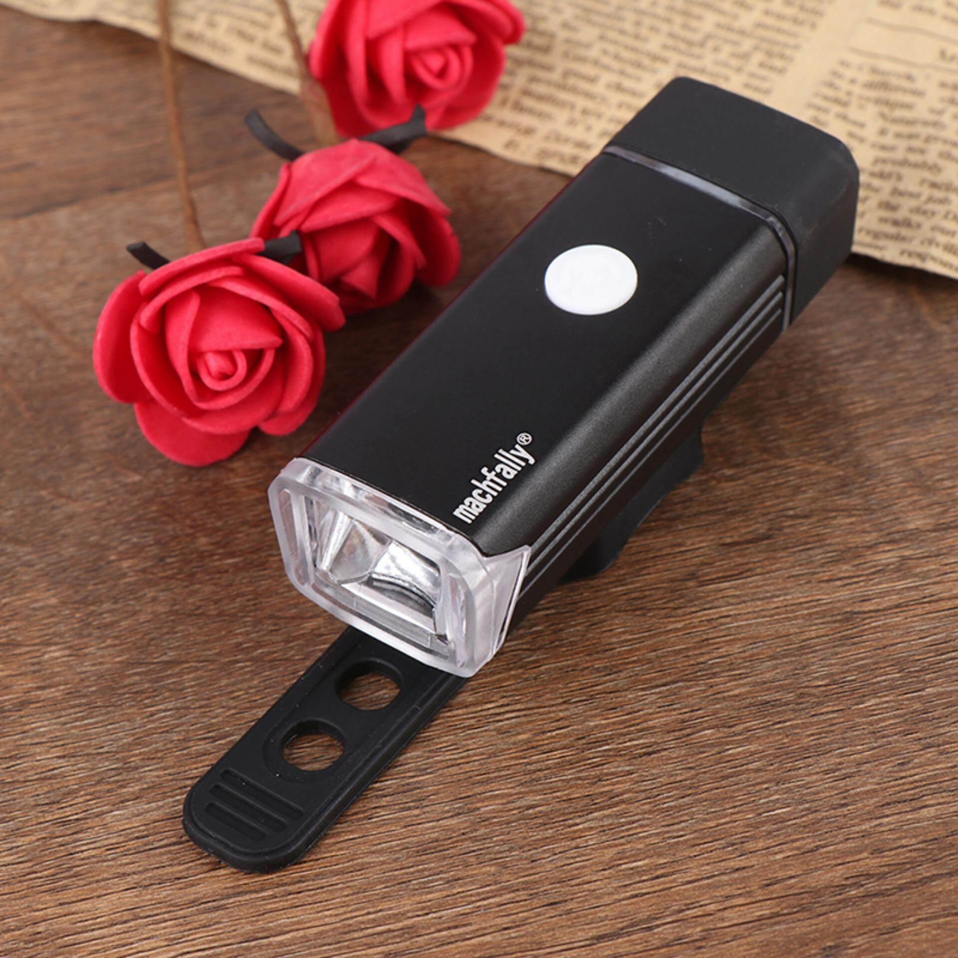 Jettingbuy Sepeda Lampu Depan Lampu Berpengisi USB Obor Tahan Air Lampu Sepeda