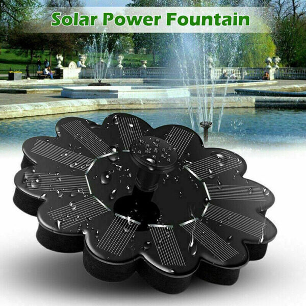 【Ready Stock】Floating Solar Powered Pond Garden Water Pump Fountain Pond For Bird Bath Tank