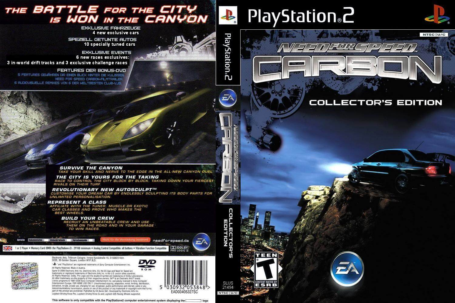 Ps2 Need For Speed Carbon Collectors Edition By Ithomas.