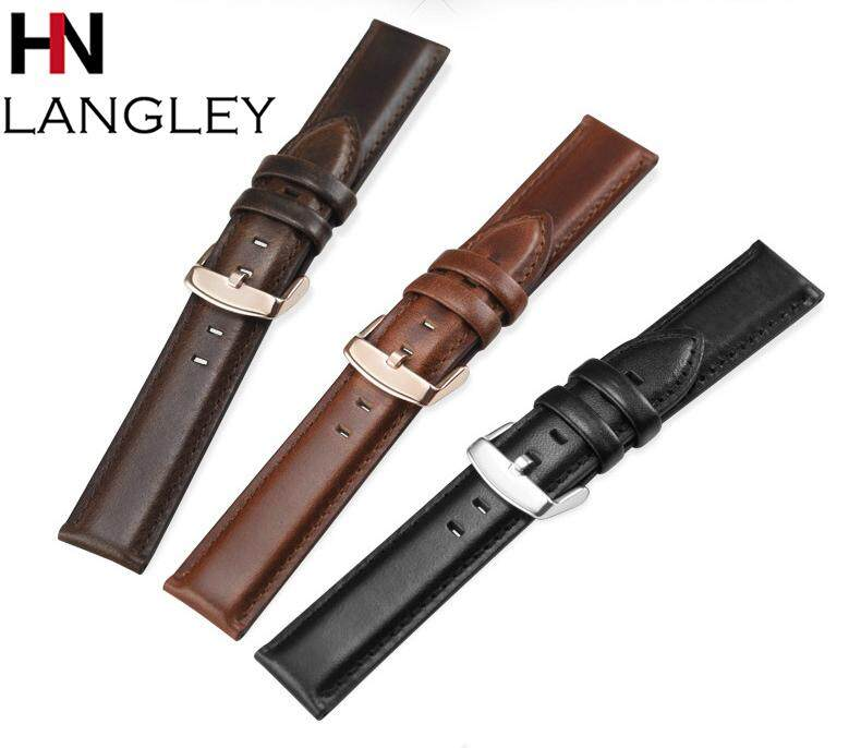 High Quality Genuine Leather Watch Band Top Cowhide Watch Strap Mens Watchband Business Wrist 18/20/22mm Malaysia