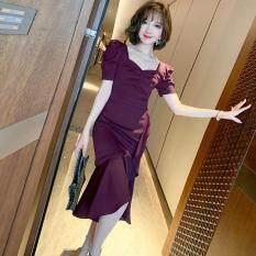 Tay Phồng Cổ Điển Phong Cách Người Nổi Tiếng Mới 2020 Cho Nữ Đầm Ôm Dáng Thời Trang