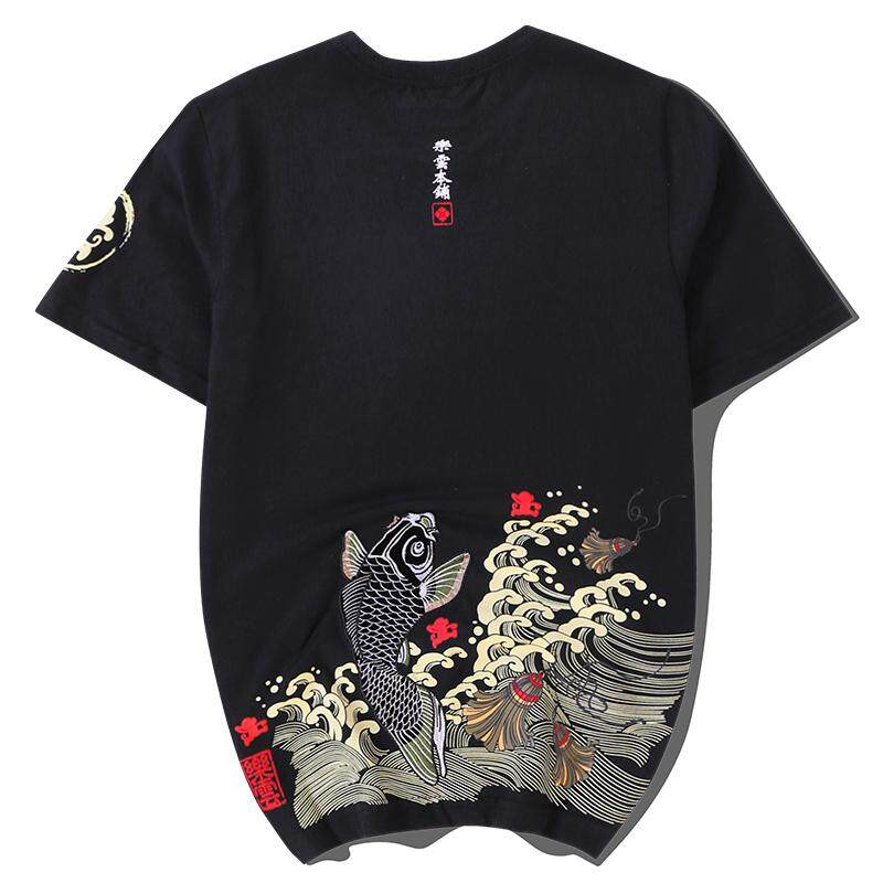 3dc2a0743 Men's Short-sleeved T-shirt Trend Japanese-style Summer China Wind Wu Kong