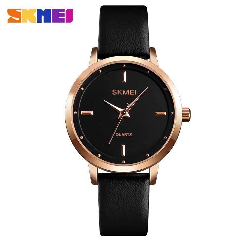 SKMEI Women Watches Fashion Simple Style Ladies Leather Quartz Watch Top Brand Luxury Casual Waterproof Sports