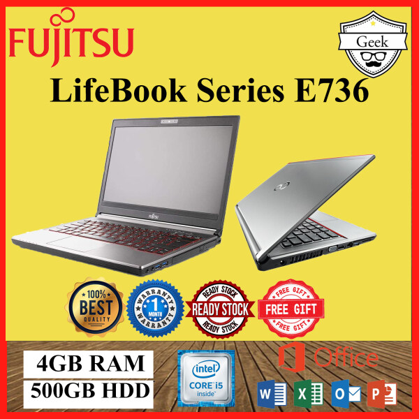 Fujitsu Lifebook Series E736 13.3Inch - Intel Core i5-6th Gen - 4gb Ram -500gb hdd Malaysia
