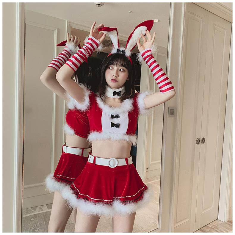 Christmas Costume Summer Sexy Lingerie Uniform Suit Passion Bunny Role-playing Suit Japanese Halloween Uniform Cute New Ladies Pajamas