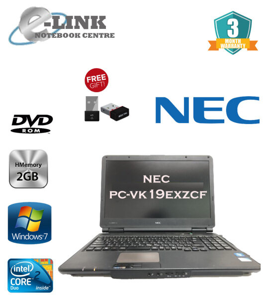 (REFURBISHED) NEC VK19EX-F LAPTOP / INTEL CELERON / 2GB RAM / 160GB HDD / WINDOW 7 PRO Malaysia