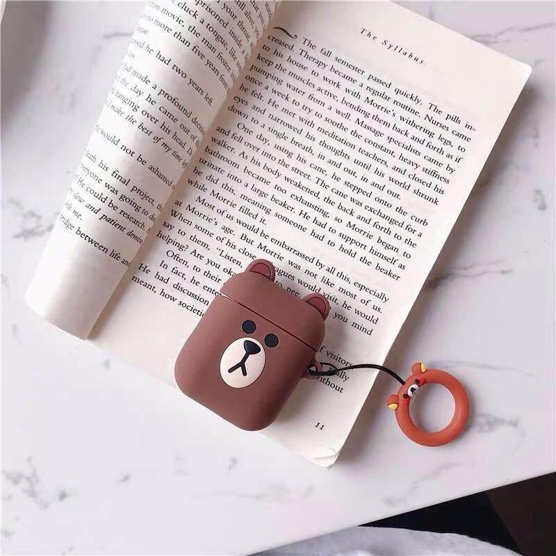 Bluetooth Earphone Case untuk Apple Airpods Silikon Headphone Case S untuk Airpods 2 Penutup Pelindung