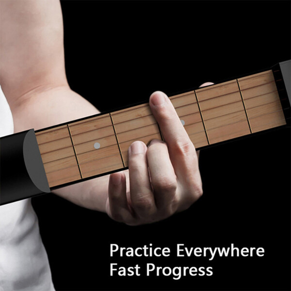 (Two Colors Optional) 6 Fret Portable Pocket Guitar Portable Practice Guitar Tool Beginner Guitar Accessories Instrument Stringed Instrument Chord Trainer Tool Malaysia