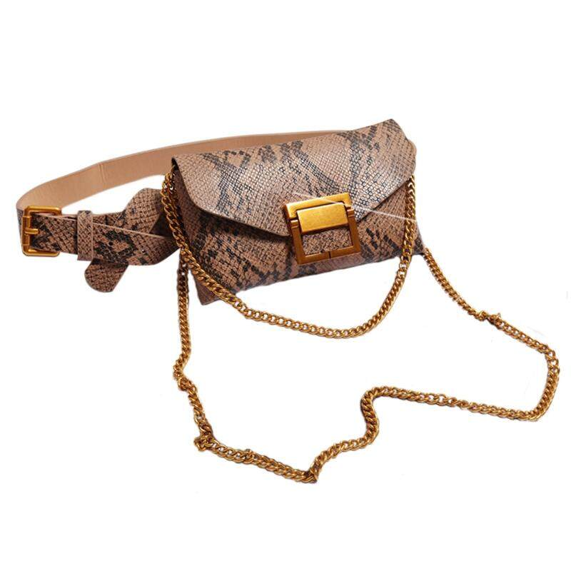 5aa2bec2d80e Women Waist Bag Leather Female Belt Chain Bags Fashion Fanny Pack Waist  Belt Bag Female Hip