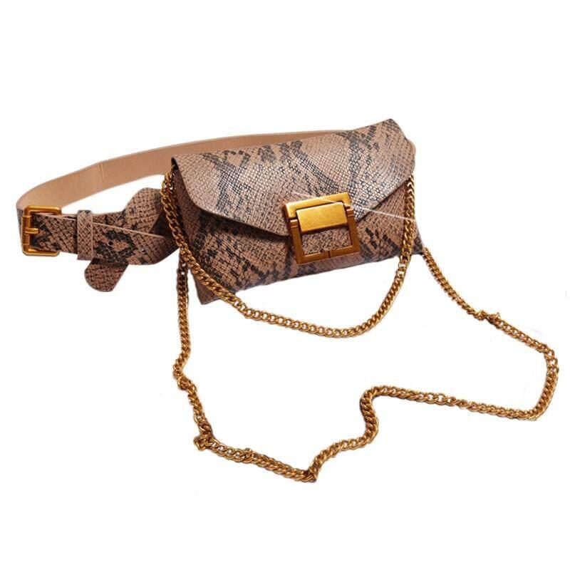 dca80e2dd04c Women Waist Bag Leather Female Belt Chain Bags Fashion Fanny Pack Waist  Belt Bag Female Hip