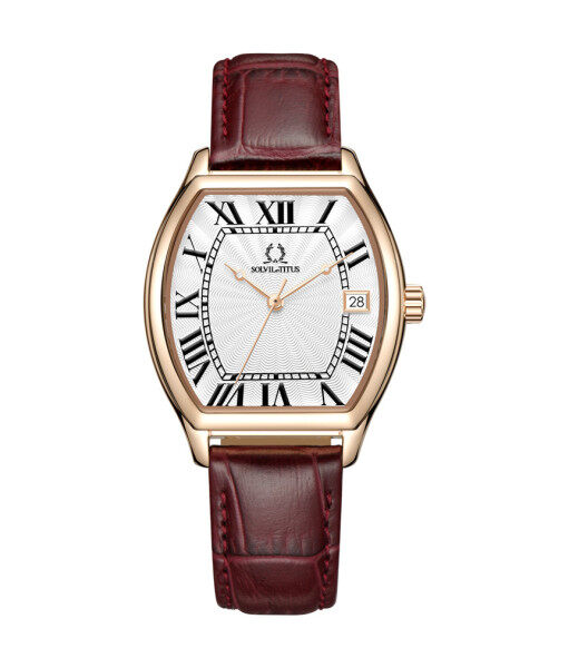 Solvil et Titus W06-03164-004 Womens Quartz Analogue Watch in Silver White Dial and Leather Strap Malaysia