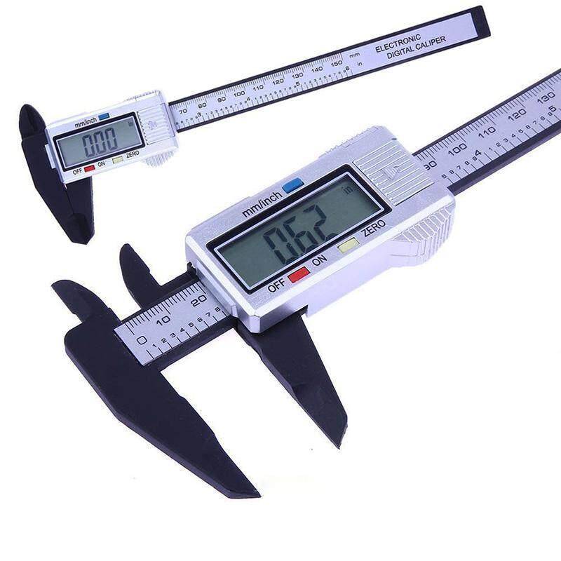 "6"" 150mm LCD Carbon Fiber Electronic Digital Vernier Caliper Micrometer Gauge"