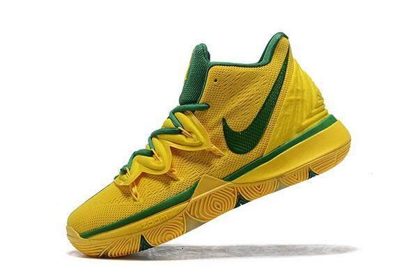 Diskon Nike_ Sepatu Pria Kyrie 5 Zoom Sepatu Basket Kuning Hijau Pelatih Sneaker Atletik untuk Pria