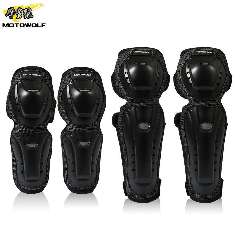 Motorcycle Riding Off-road Shatter-resistant Knee Pads Elbow Riding Equipment Protective Gear Four-piece Outdoor Equipment Knee Pads