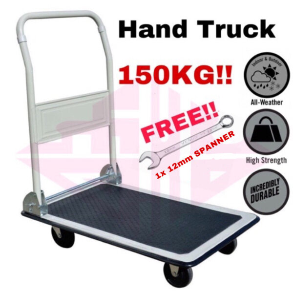 ✚  EEHIONG1977 GT-150 150kg HIGH QUALITY Foldable Platform Hand Truck Trolley Kereta Tolak Besi Troli