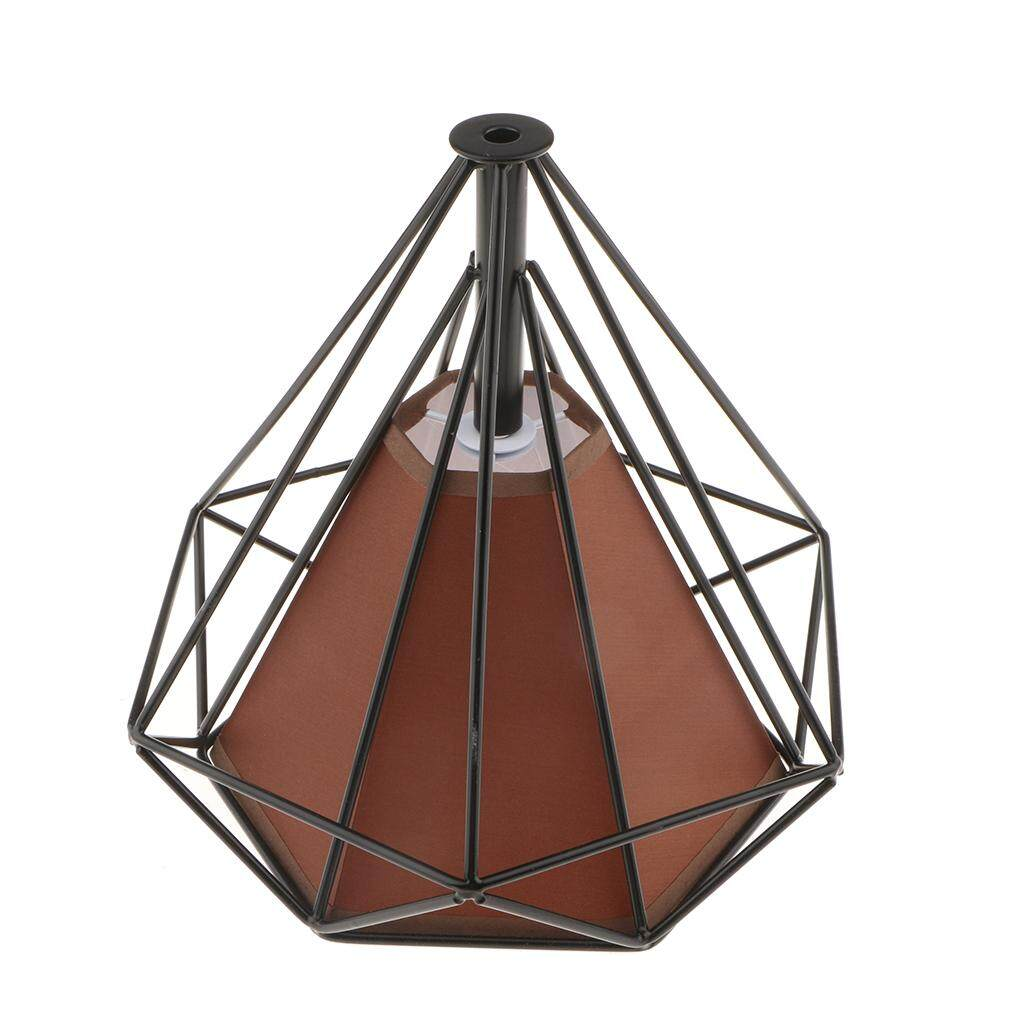 Fityle Modern Rustic Metal Diamond Metal Bulb Guard Lamp Cage Light Lampshade 12 Colors