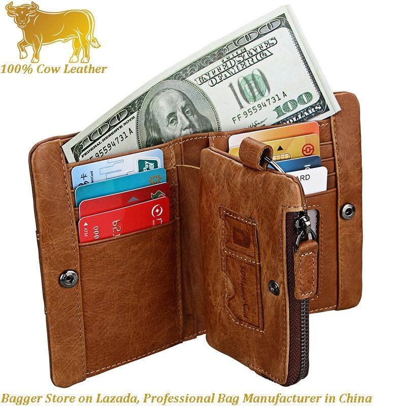 49b4f8c72d New 100% Italy Genuine Cow Leather RFID Men Casual Card Holders Crazy Horse  Leather Man