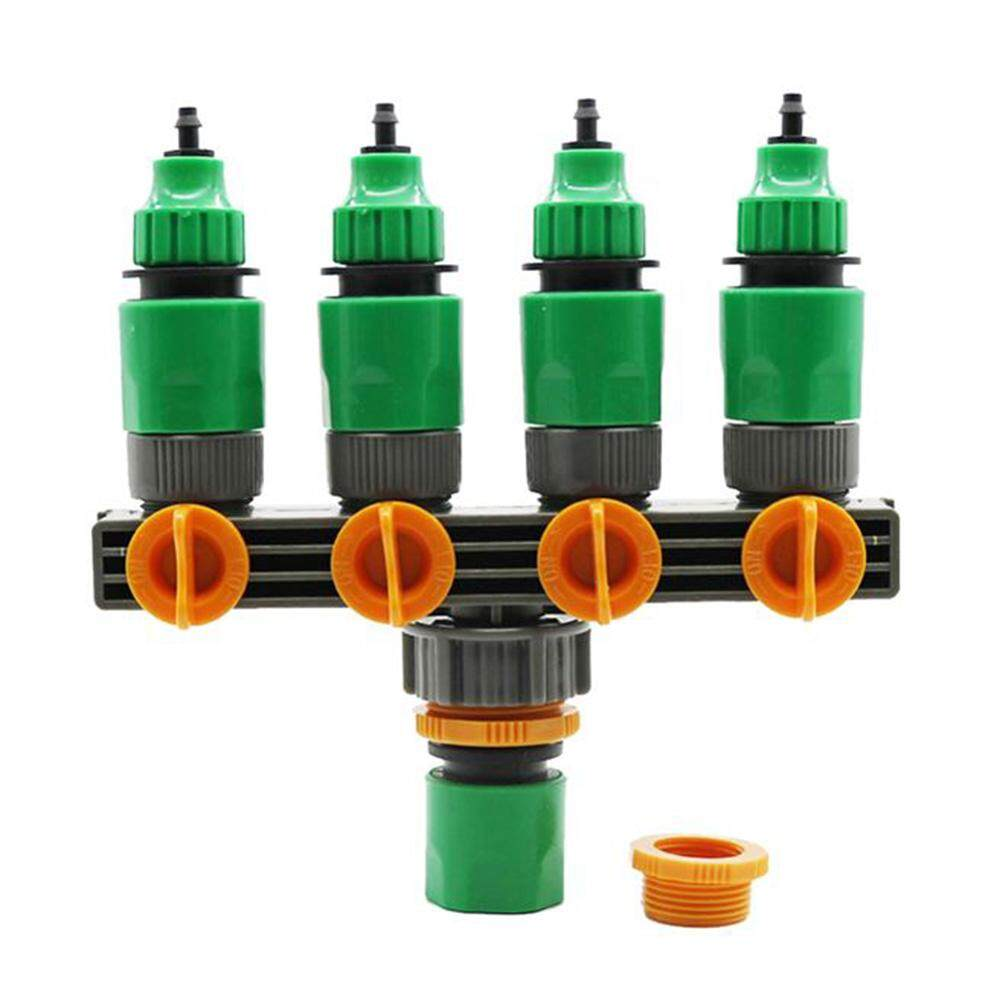 Gardening Household Pipe Plastic Four-Way Valve Splitter Irrigation Hose Controller Shunt Watering Joint Outlet