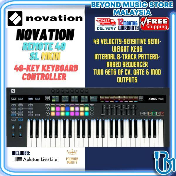 Novation 49SL MkIII 49-key Keyboard Controller with 8-track Sequence (SL MK3) Malaysia