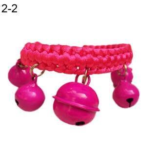 Vòng đeo cổ cho chó con vật nuôi bằng nylon chuông lớn, dây đeo có thể điều chỉnh, nhiều màu sắc lựa chọn thời trang dễ thương Huanhuang - INTL thumbnail