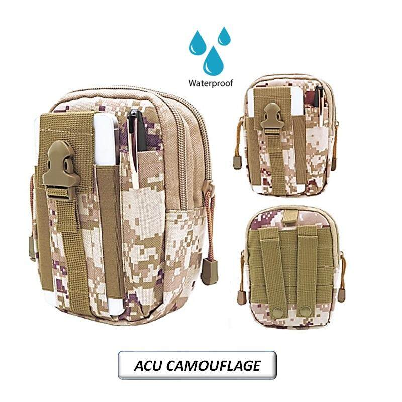 Men Outdoor Military Sports Waterproof Tactical Mobile Phone Waist Bag By Toys & Tots.