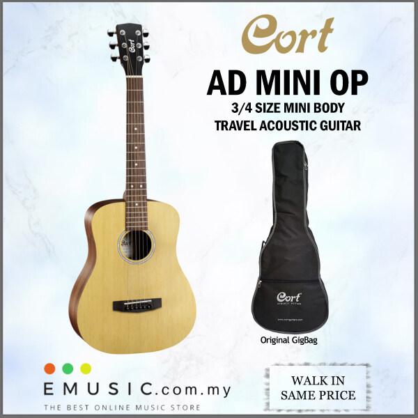 Cort AD MINI OP Open Pore Standard Series 3/4 Size Mini Body Travel Acoustic Guitar come with Gigbag (ADmini / AD-mini) Malaysia