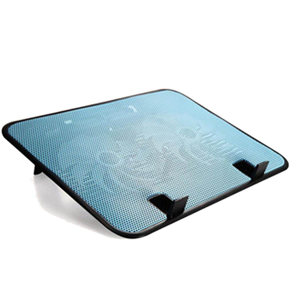 14 inch Notebook Cooler 5v Dual Fan USB External Laptop Cooling Pad Slim Stand High Speed Silent Metal Panel Fan