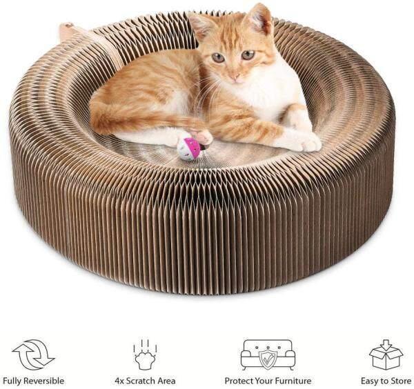 Đồ Cào Cho Mèo Thú Cưng Giường Phòng Chờ Giấy Gấp Nếp Gấp Gọn Tấm Cào Cho Mèo Biến Dạng Thảm Giường Cho Mèo Đồ Chơi Cho Thú Cưng