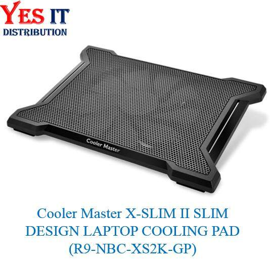 "Cooler Master X-SLIM II SLIM DESIGN LAPTOP COOLING PAD (R9-NBC-XS2K-GP) -- Supports up to 15.6"" laptops and tablets Malaysia"