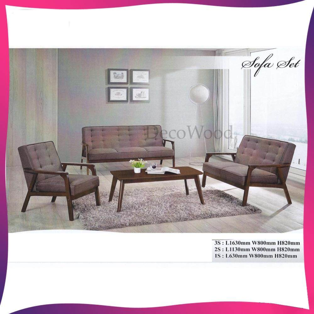 Solid Wood 1+2+3 Fabric Sofa Set With Coffee Table /wood Sofa/hall Sofa/lounge Sofa/relax Sofa/hall Chair/t V Chair/tv Sofa By Decowood.