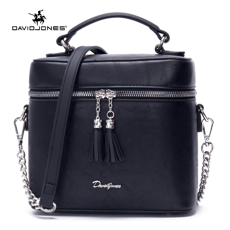 c62b2932b825 DAVIDJONES women crossbody bag pu leather female shoulder bag small spring  tassel lady tote bag girl summer brand handbag free shipping