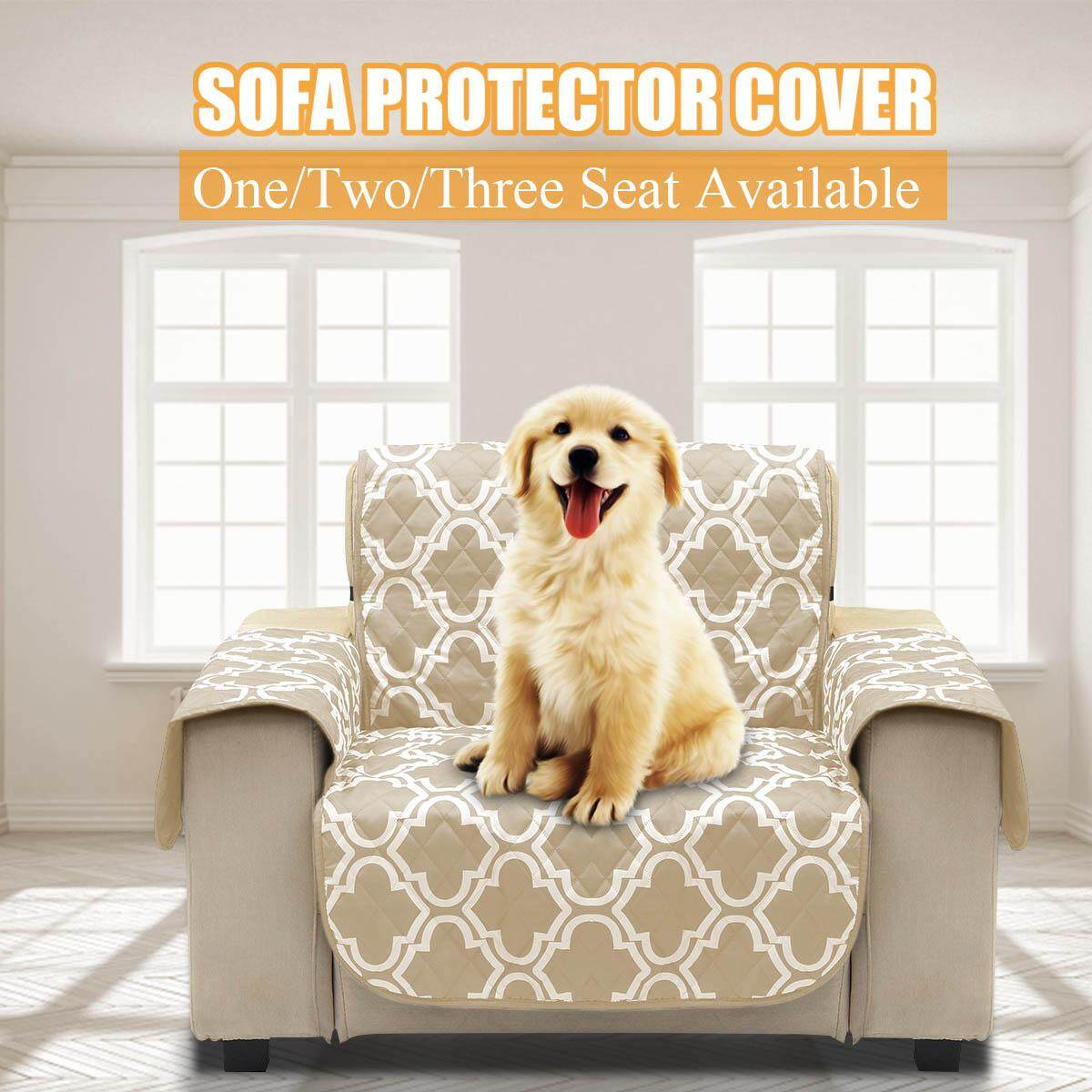 1/2/3 Seater Microfiber Pet Dog Kids Couch Sofa Furniture Protector Cover Strap Waterproof