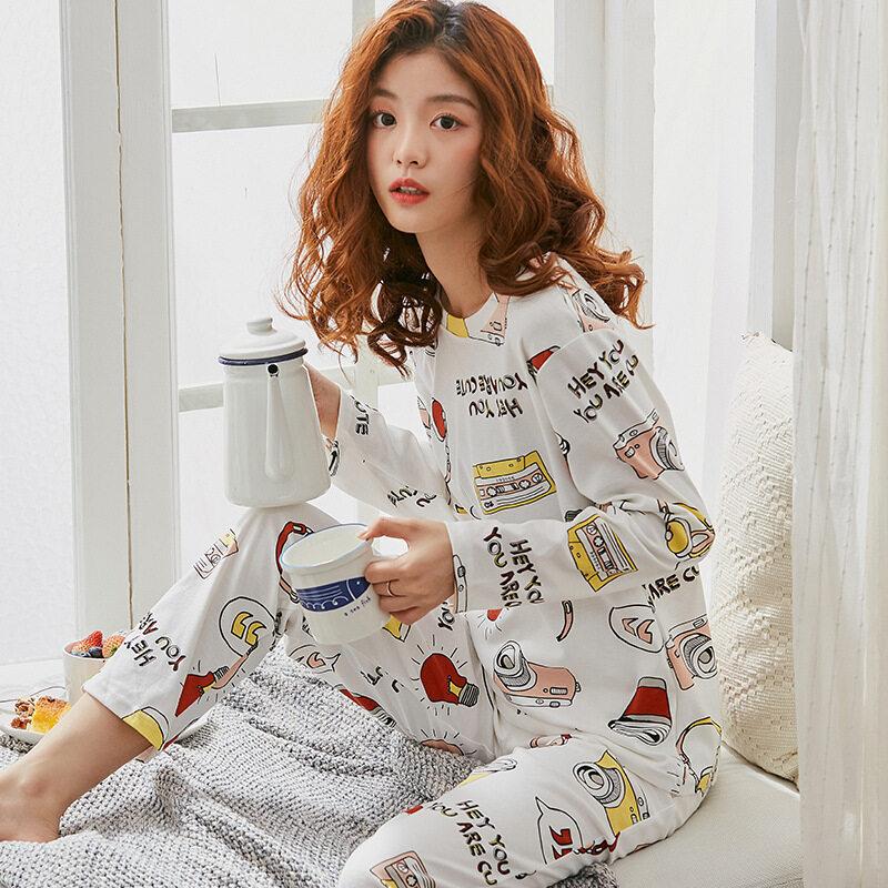 Nơi bán SHR Mới Khuyến Mãi Nóng Cotton Bộ Đồ Ngủ Phụ Nữ Chất Lượng Quần Áo Ngủ Nhà Đầy Màu Sắc Mặc Pijama Quần Áo Rộng Pyjama Nhà Phù Hợp Với Cỡ Lỡn M-XXXL