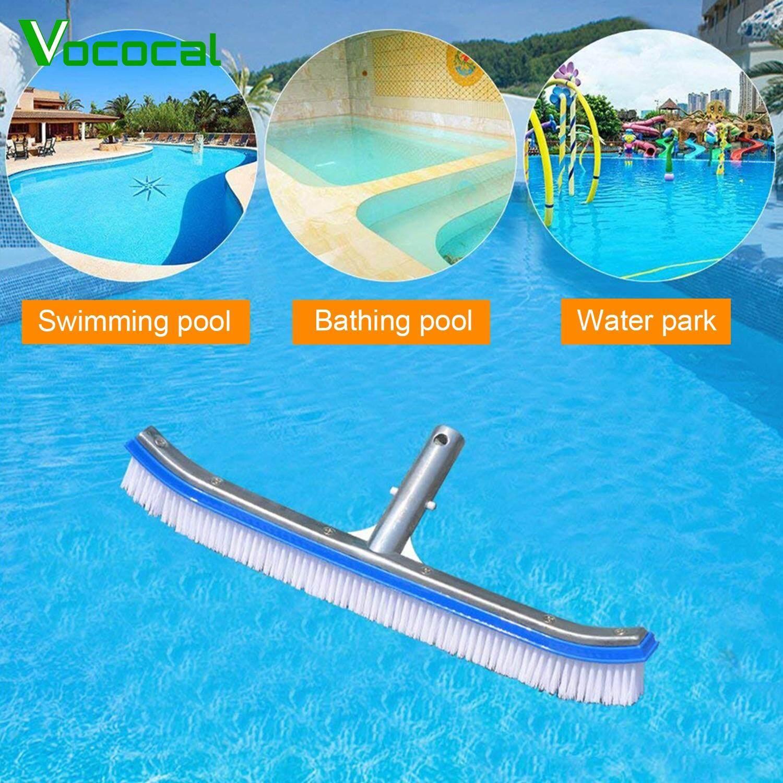 【In stock】Vococal 45 cm/17.72 inch Nhôm Bàn Chải Cọ Rửa Làm Sạch với Nhựa Lông cho Ngoài Trời Nóng Tắm Spa Lao bể bơi