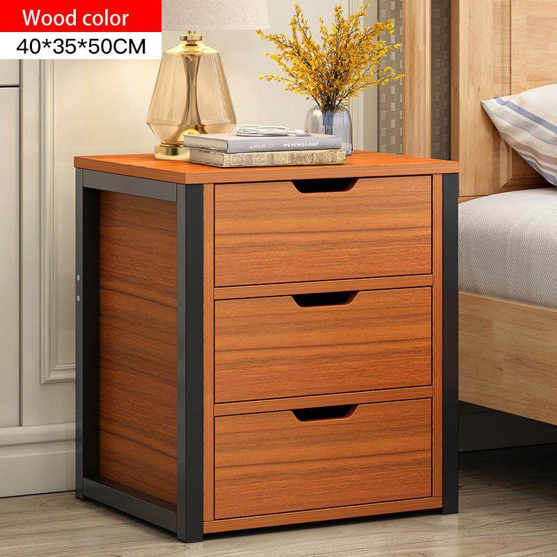 RuYiYu - Rectangular Wood Nightstand, Side/End/Coffee/Accent Table, Cabinet with 3 Drawers for Storage